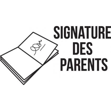 Tampon n°7: Signature des parents