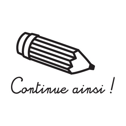 Tampon n°11: Continue ainsi
