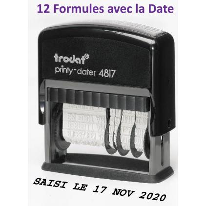 Tampon dateur multiformules