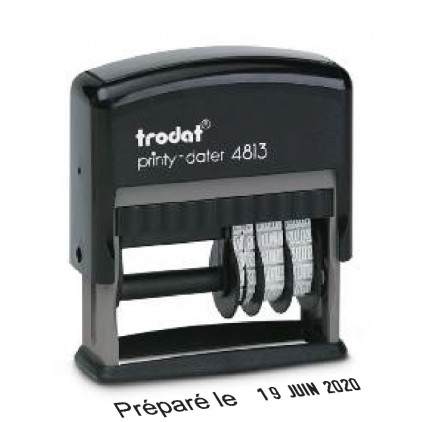 Dateur printy Trodat 4813 2 lignes 26x9mm
