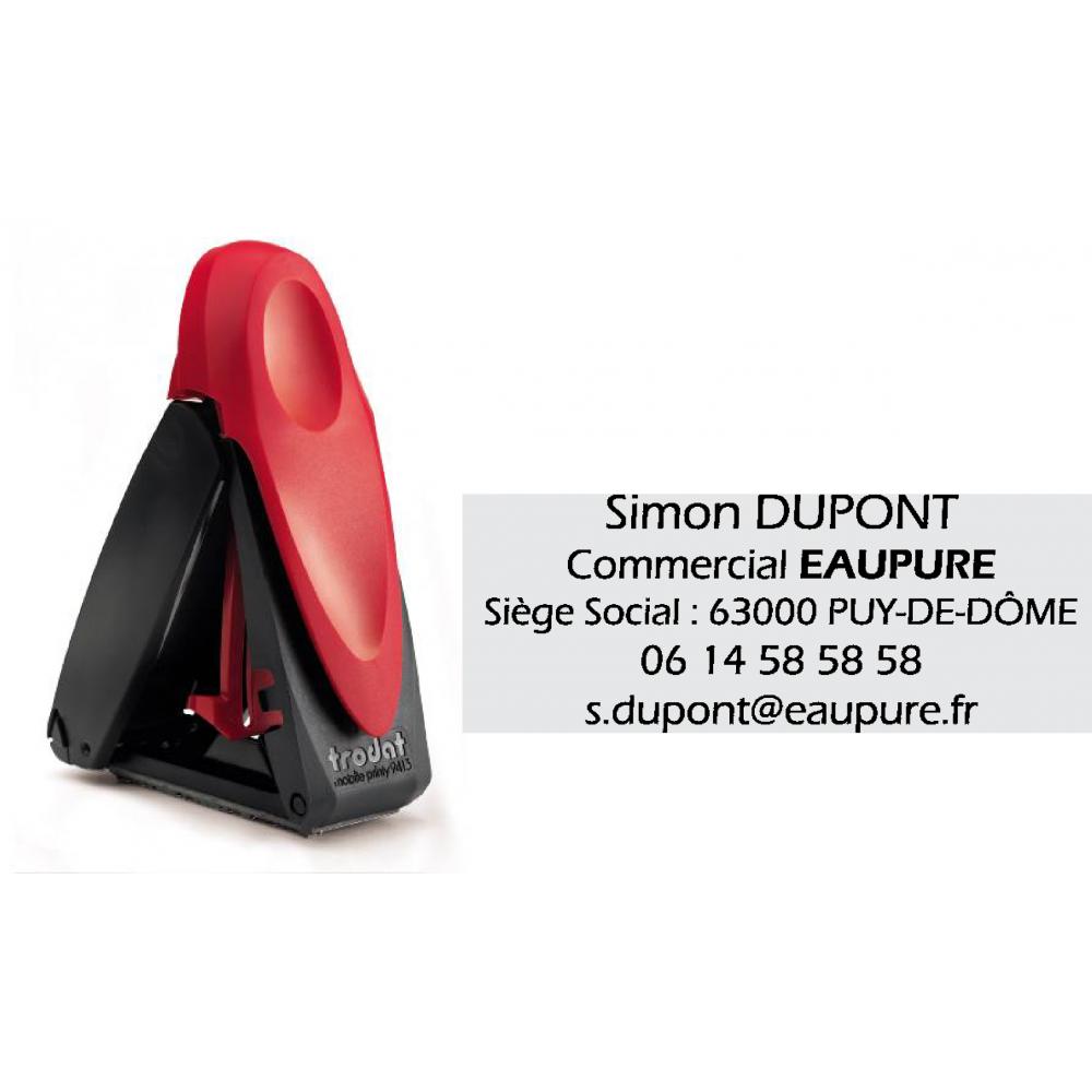 Tampon de poche Mobile Printy 9413 5 lignes