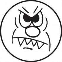 Tampon n°23: Smiley en colère