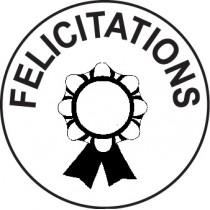 Tampon n°6: Félicitations