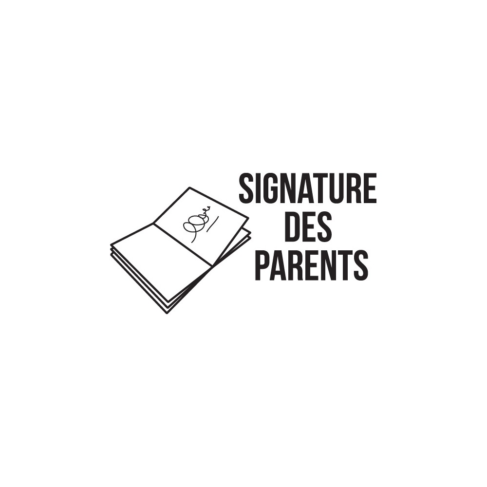 Tampon n°7: Signature des parents