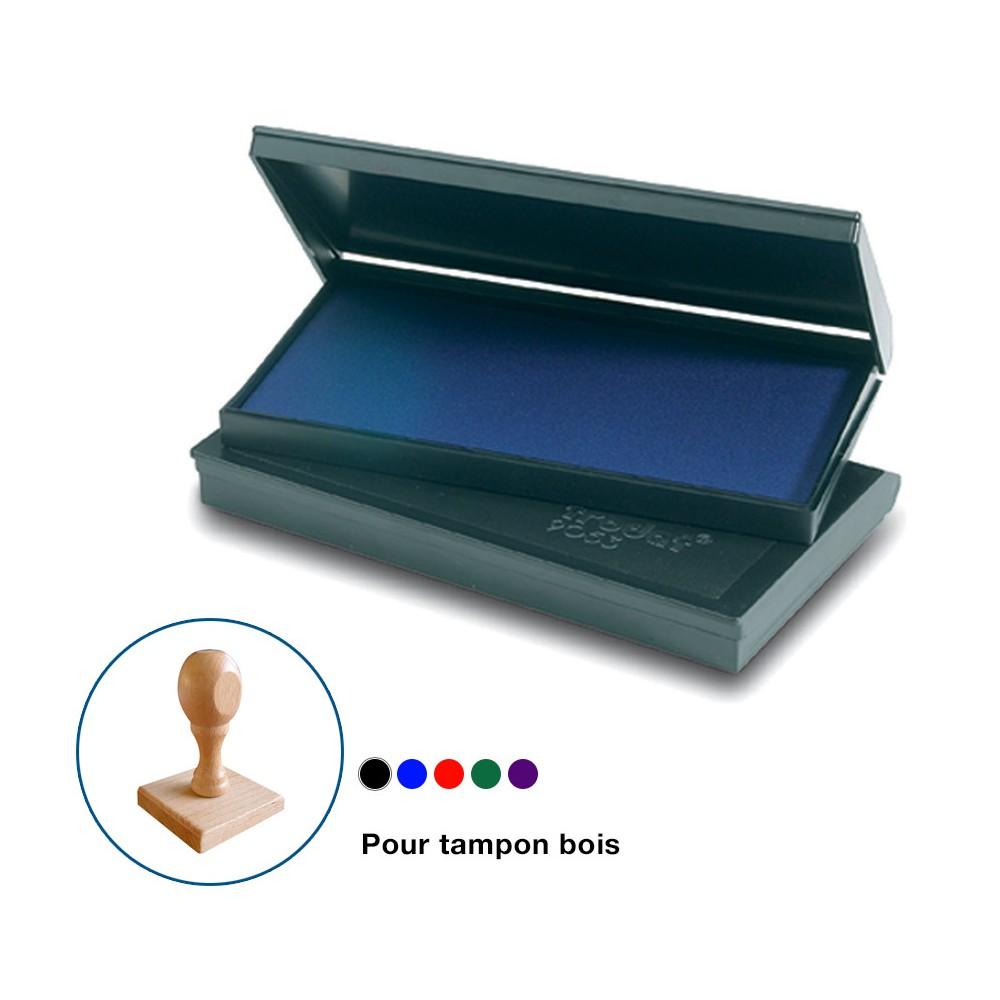Encreur de bureau 7x5 cm pour tampon bois