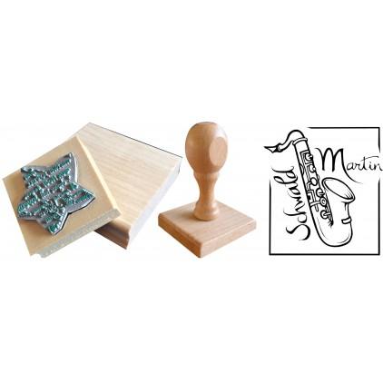 Tampon personnalisé 40 cm² ou 8x5 cm