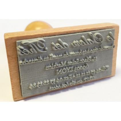 Tampon bois 1 ligne de 6 à 10 cm