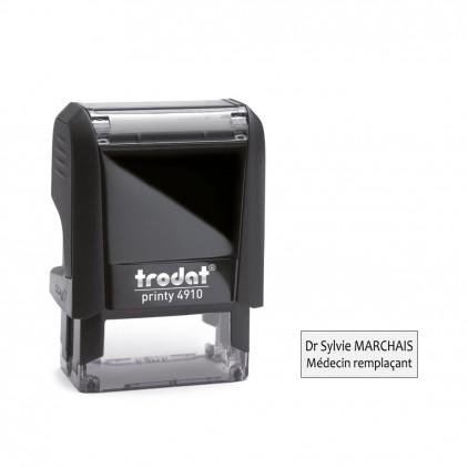 Tampon printy 4910 - 1 à 2 lignes - 25x10 mm - Port gratuit