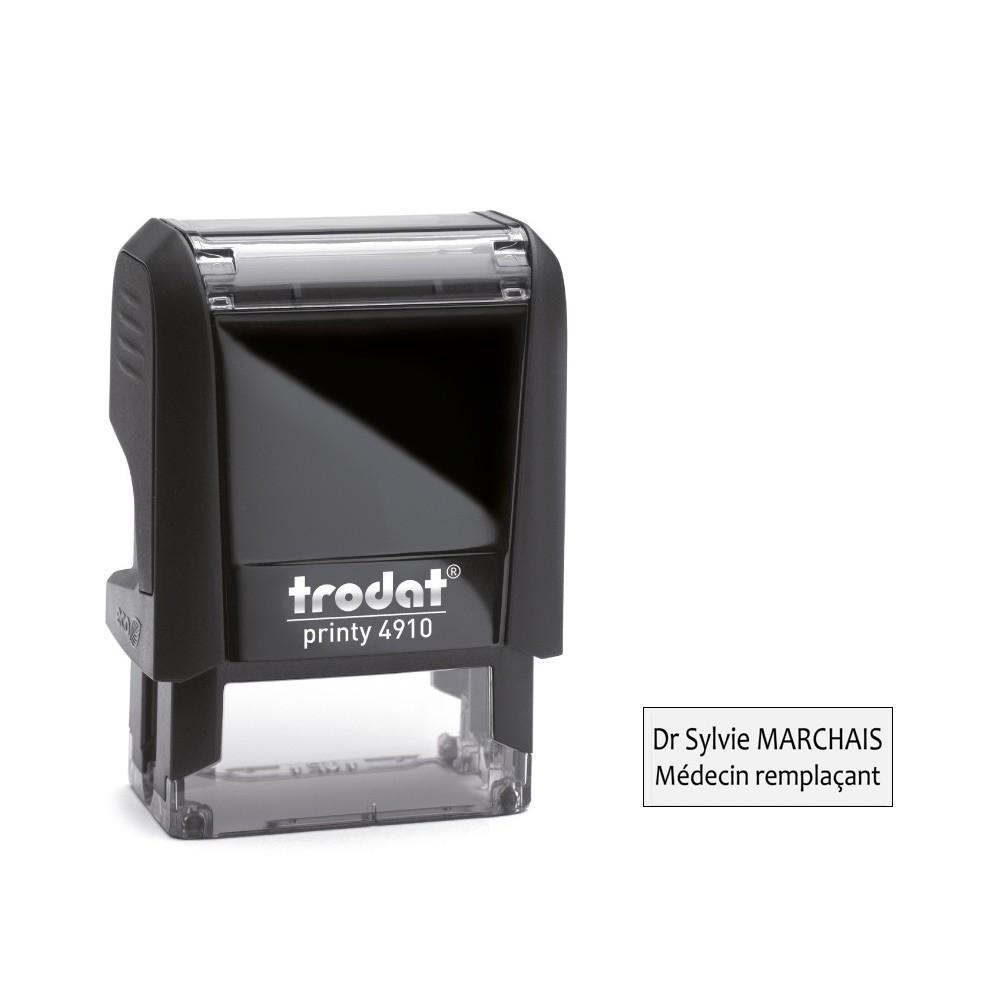 Tampon encreur printy trodat 4910 2 lignes 25x10 mm