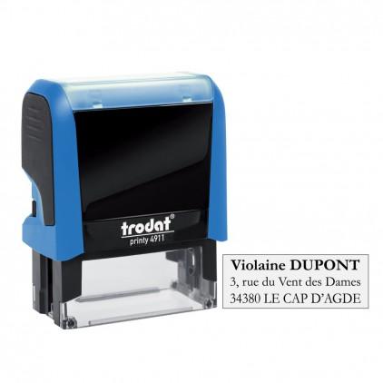 Tampon printy 4911 - 1 à 3 lignes - 38x14 mm - Port gratuit