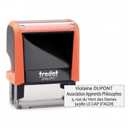 Tampon printy 4912 - 1 à 4 lignes - 47x17 mm - Port gratuit