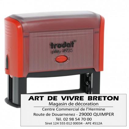 Tampon printy 4925 - 1 à 6 lignes - 82x25mm - Port gratuit