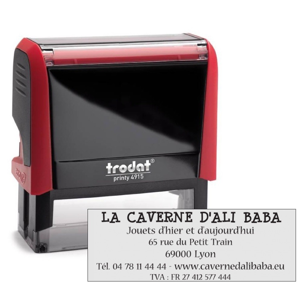 Tampon printy trodat 4915 6 lignes 69x24 mm