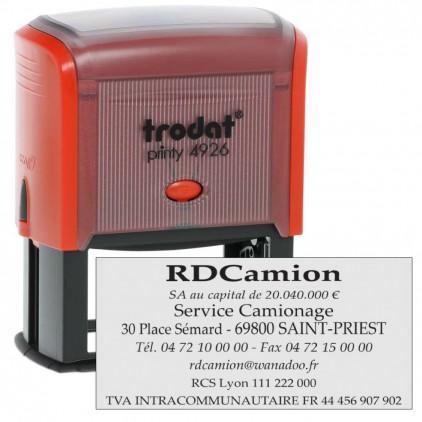 Tampon printy 4926 - 1 à 8 lignes - 74x36mm - Port gratuit