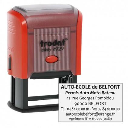 Tampon printy 4929 - 1 à 7 lignes - 50x30mm - Port gratuit