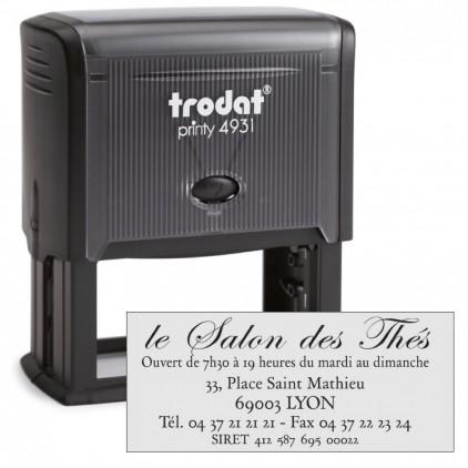 Tampon printy 4931 - 1 à 7 lignes - 70x30mm - Port gratuit