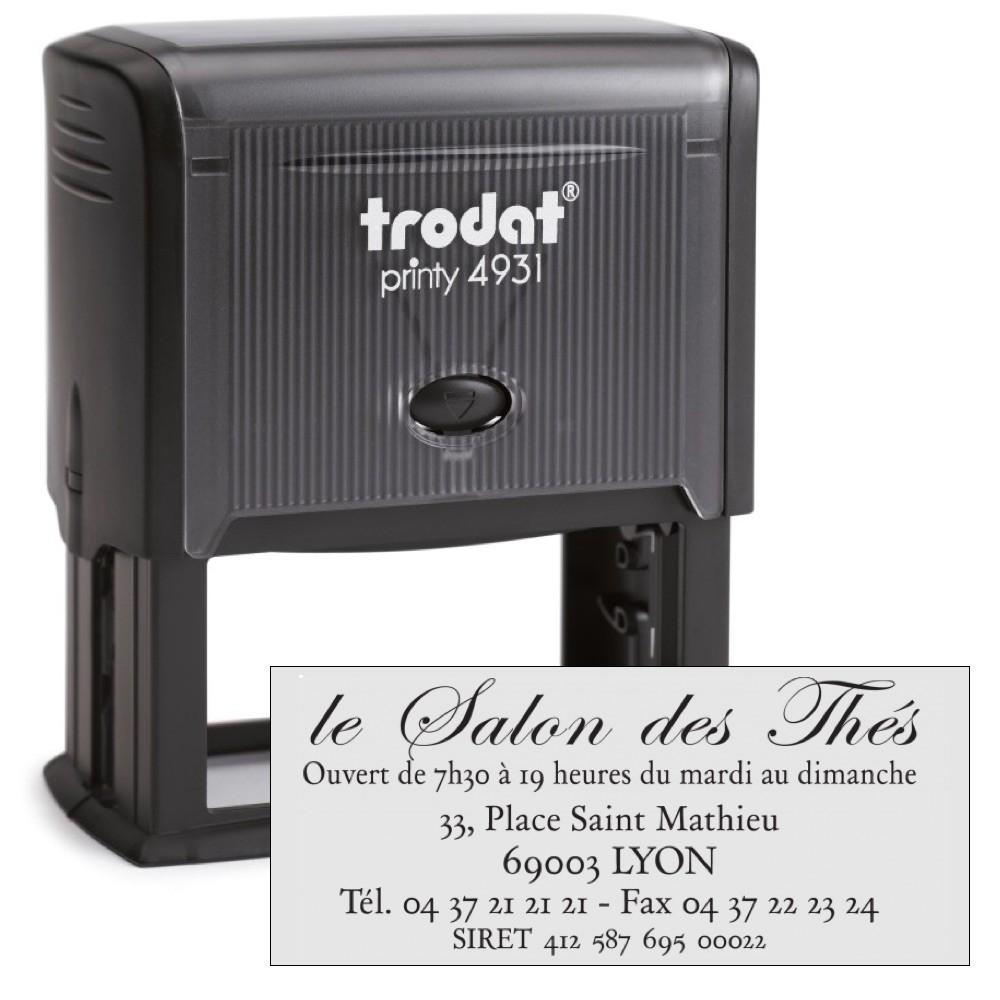Tampon printy trodat 4931 7 lignes 70x30mm