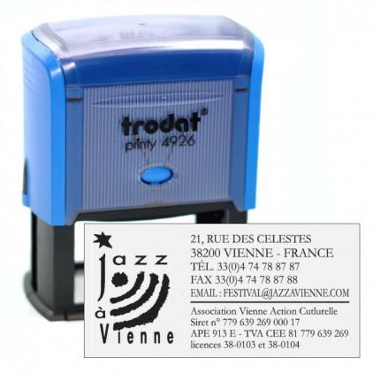 Tampon printy 4926 LOGO - 74x36 mm - Port gratuit