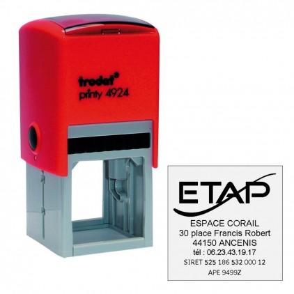 Tampon printy 4924 LOGO - 39x39 mm - Port gratuit